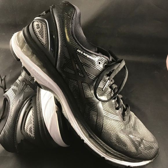new style eb64c 261aa ASICS NIMBUS 19 Black Carbon Grey Mens 12 46 EUR